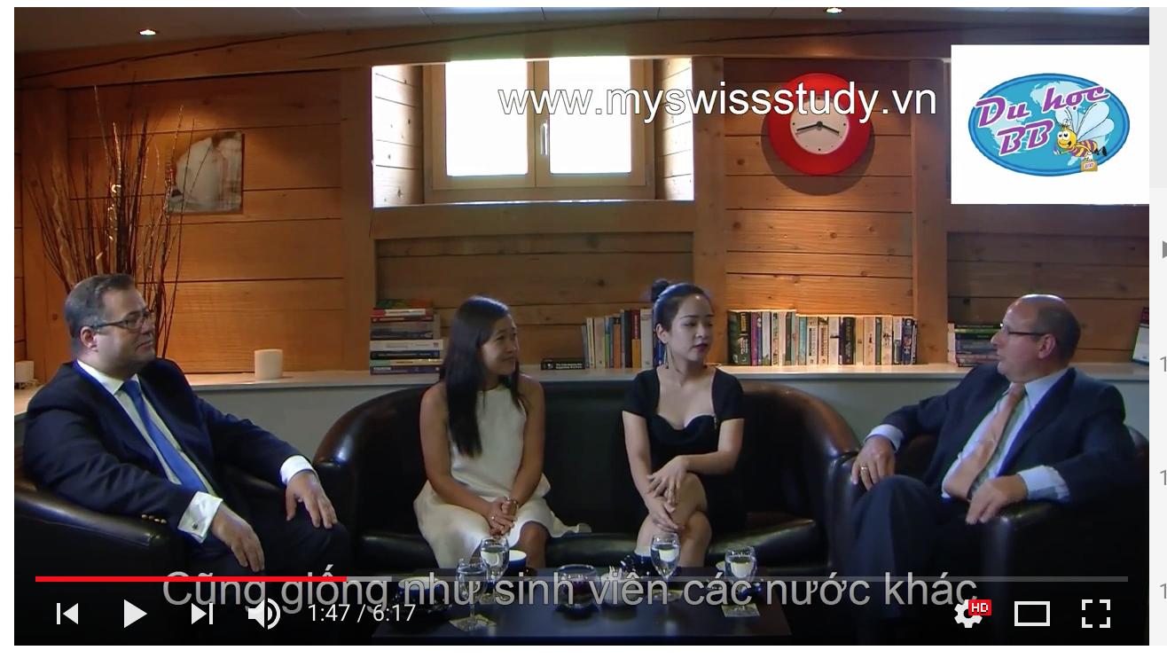 Phỏng vấn du học Thuỵ Sỹ, các giám đốc trường HTMI