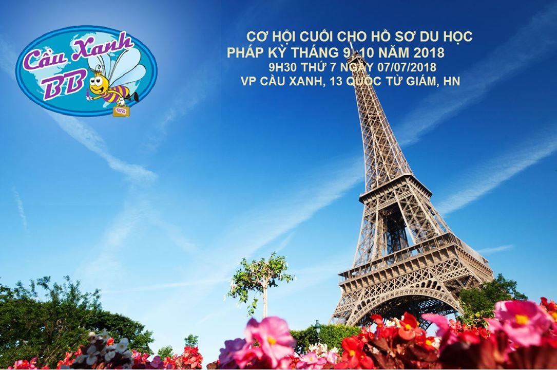 Cơ hội cuối nộp hồ sơ du học Pháp năm 2018
