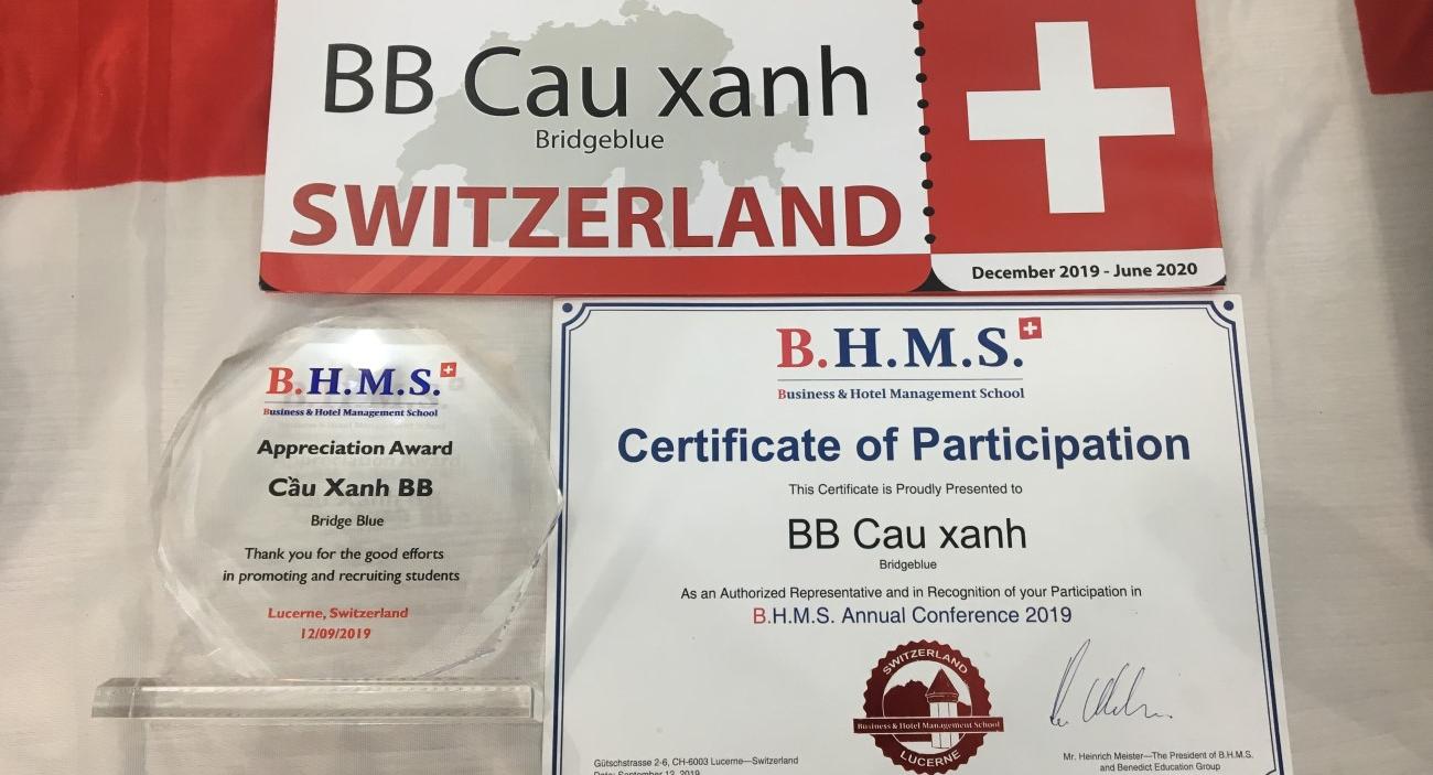 Cầu Xanh giành trọn bộ 3 giải thưởng năm 2019 của trường BHMS, Thụy Sỹ