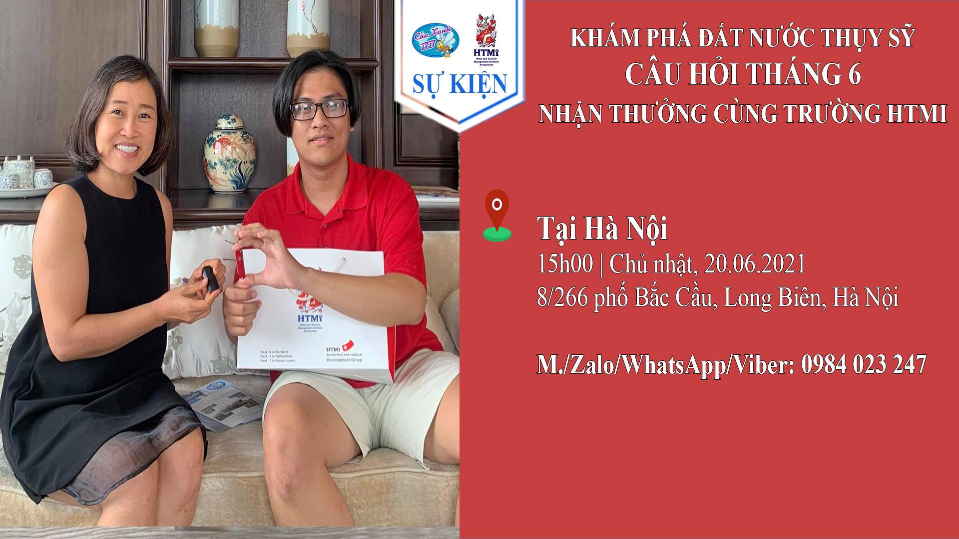 Khám phá đất nước Thuỵ Sỹ, câu hỏi tháng 6 nhận thưởng cùng trường HTMi